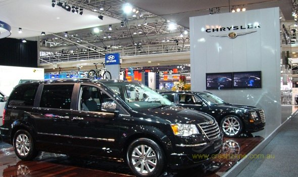 chrysler jeep dodge stand at the internation motor show sydney 2008. Cars Review. Best American Auto & Cars Review